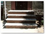 Finished entrance steps